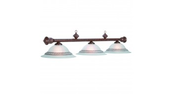 "59""-3 LT BILLIARD LIGHT-OLD BROWN"